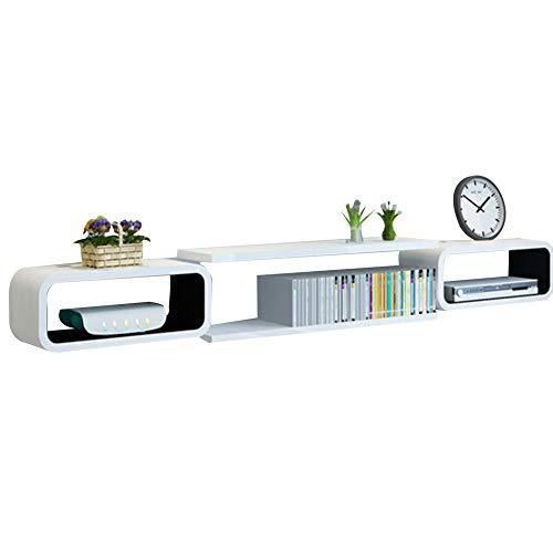 Brooke shop Mueble de TV flotante para DVD, caja de TV por satélite, caja de cable, mueble de TV de pared simple para el hogar, soporte de TV, mueble de sala/A / 140×20×15cm