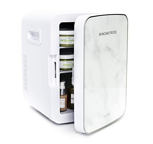 Teami Mini Fridge for Skincare - 10 Liter Compact Mini Refrigerator - Perfect for Bedroom or the...