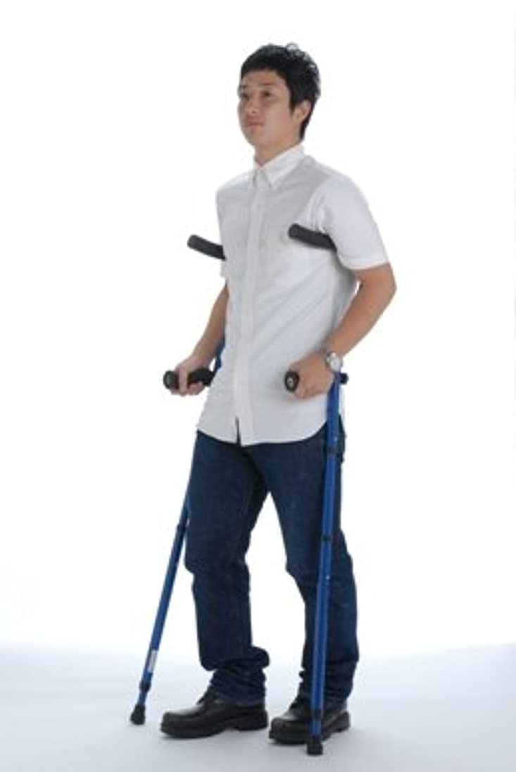戦略少年学部折りたたみ松葉杖 ミレニアル?プロ 2本組トルネードチップセット (レギュラー, ブルー)