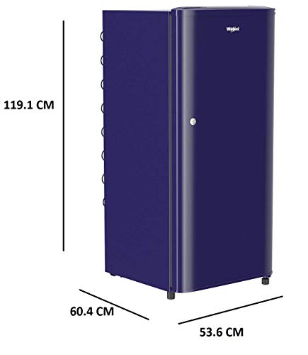 Whirlpool 190 L 3 Star Direct-Cool Single Door Refrigerator (WDE 205 CLS 3S, Blue) 3
