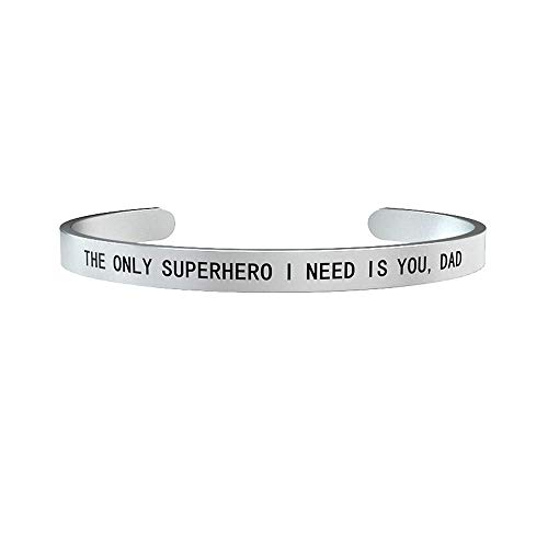 bracciale uomo kidult papà The only superhero i need is you