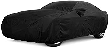 FS12123F5 Covercraft Custom Fit Car Cover for Select Honda Prelude SI Models Fleeced Satin Black