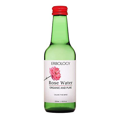 Acqua di Rose Bio 250ml - Distillato dai Fiori di Rosa Damascena - Qualità del Cibo