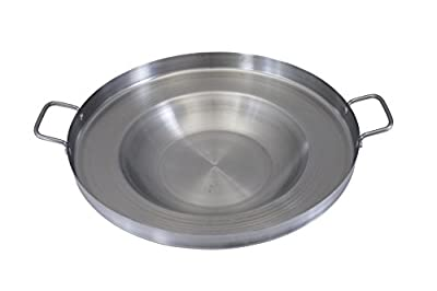 """CONCORD Stainless Steel Comal Frying Bowl Cookware (22"""")"""