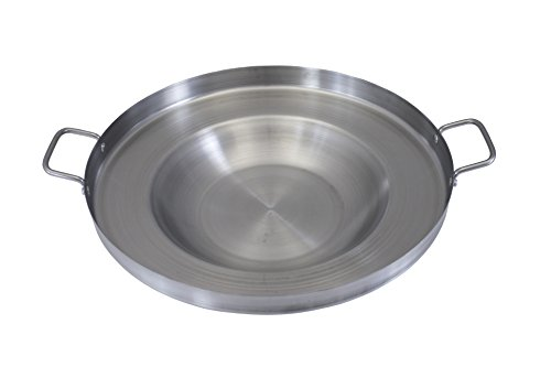 """Concord Stainless Steel Comal Frying Bowl Cookware (22""""), silver (S4008 S4812 S5612)"""