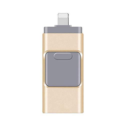 maxineer 64GB Chiavetta USB per iPhone Android Pendrive 3 in 1 USB 3.0 Espansione Memoria USB per iOS iPod iPad OTG Android Computer