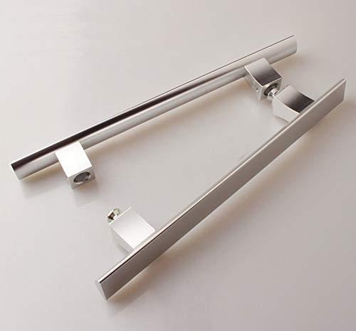 N\A Manija de la Puerta de Cristal, manija de la Puerta de Madera, manija de Aluminio (Color : Aluminum Color, Size : 400x280mm)