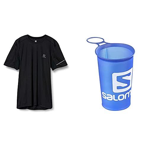SALOMON Agile Camiseta Hombre Trail Running Sanderismo + Cup Speed Copa Flexible 150Ml Trail Running Sanderismo