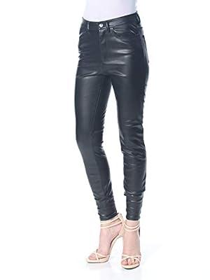 Free People Womens Vegan Leather High-Rise Skinny Pants Black 26