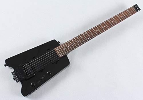 KEPOHK Headless 6 Strings E-Gitarre E-Mini-Gitarre Travelling E-Gitarrenhals Bolt Metalblack