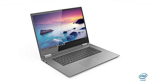 Lenovo Yoga 730 39,62 cm (15,6 Zoll Full HD IPS Multi-Touch) Slim Convertible Notebook (Intel Core i5-8265U, 8 GB RAM, 256 GB SSD, Nvidia GeForce GTX 1050 4 GB, Windows 10 Home) silber
