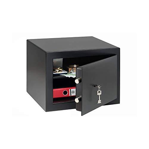 Burg Wächter Möbeltresor mit Schlüssel, Home-Safe, Sicherheitsstufe B, Feuerschutz DIN 4102, VdS-geprüft, ECB-S zertifiziert, 20,6 l, 30 kg, H 210 S, Schwarz, 20,6 Liter