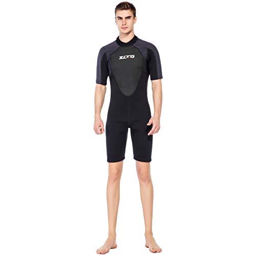 ウエットスーツ メンズ スプリング 3mm ショ-ティ- ネオプレン素材 ダイビング フィッシング バックジップスプリング サーフィン AMS301 Mサイズ