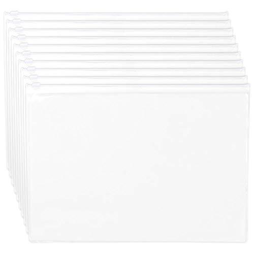Rits Tassen A3 Document Portemonnees Bestanden Popper Pocket Envelop Mappen Zip Bestand Tassen 10 Stks A3 Kleur: wit