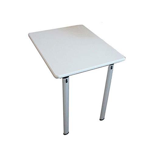 Muurmontage klaptafel klaptafel keuken eettafel computerwerkplaats kinderen werkkamer organizer uitklapbaar, wit (grootte: 74 & times; 60 & times; 74 cm (dubbele poten) 74×60×74cm(Double legs)