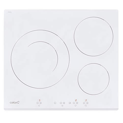 Cata IB 6030 WH (Integrado, con Placa de inducción, Blanco, 1200 W, Alrededor, 16 cm), 2700 W, Vidrio, Acero Inoxidable