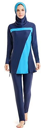 TianMai Neue Muslimische Bademode Muslim Islamischen Bescheidene Full Cover Badebekleidung Modest Swimwear Beachwear Burkini für Frauen (70, Int'l 4XL (EU-Größe 46-48))