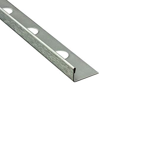 10x L-Profil Edelstahlschiene Fliesenprofil Fliesenschiene Edelstahl V2A L250cm 11mm gebürstet
