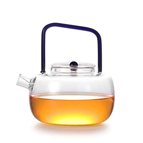 Glass Teapot Clear Glass Tea Kettle Pot Borosilicate Glass Tea Maker Tea Kettle Infuser Stovetop Safe Tea Kettle Kettle Pot 700Ml