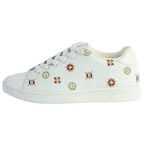Desigual Cosmic_Juliette Zapatillas Moda Mujeres Blanco - 38 - Zapatillas Bajas Shoes
