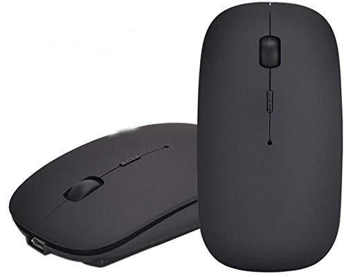 EONANT Bluetooth Mouse, 3.0 Mouse Portatile con Mouse USB Wireless Ricaricabile Silenzioso e Silenzioso Clicca per Notebook, PC, Laptop, Computer, Tablet Windows Android, MacBook (Nero)