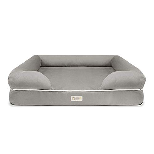 SCM - Copridivano ortopedico per letto per cani, 100% pelle scamosciata, sfoderabile, lavabile in tessuto Oxford di qualità (consigli: solo rivestimento usato per divano per animali domestici)