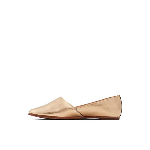 ALDO Women's Blanchette Slip-On Flat Loafer, Bronze, 9