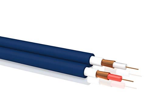 OEHLBACH NF 1 MP - Stereo NF Audio Kabel halogenfrei (Cinch, RCA, HiFi Kabel) Meterware - Preis pro Meter - blau