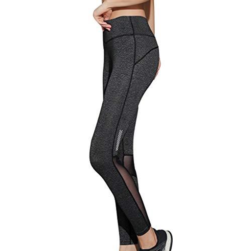 Techting Frauen-Sport-Gamaschen Fitness-Ineinander greifen mit hoher Taille Yoga-Hosen nehmen Legging Polyester-Mesh Legging Frauen Hosen, XL