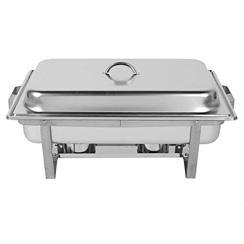 Chafing Dish Profi Set,2x 9L Edelstahl Warmhaltebehälter Wärmebehälter Edelstahl Chafing Dishes für Catering, Buffet Party Familien, Hotel 60 x 35 x 32 cm