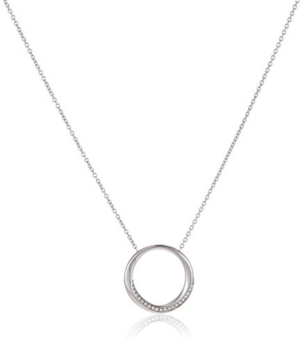 Fossil Women Stainless Steel Pendant Necklace...
