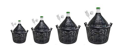 Beste Angebote Weinballon mit Korb +Gärröhrchen +Gummistopfen Glasballon Gäreimer Gärballon (Weinballon 25L)