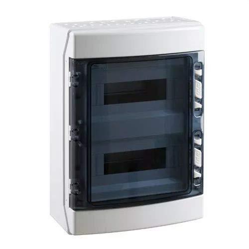 IDE CDN24PT IP65 Cofret Etanche de distribution Terminal, ABS, scellable, Gris, 436 x 310 x 148 mm