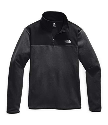 The North Face Men's TKA GLACIER 1/4 ZIP, Asphalt Grey/tnf Black, Medium