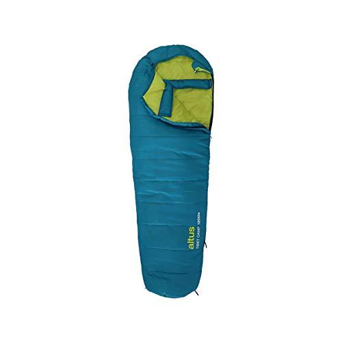 ALTUS - Saco de Dormir Verano Tibet 1200 Color Lápiz| Forma de Momia | Material de Fibra| Temperatura 10 a -8ºC | Ideal para Montaña, Camping o Excursiones