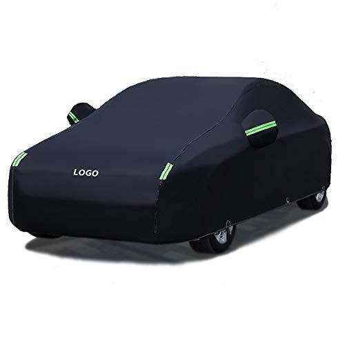 SXZHSMY001 Cubierta de coche Impermeable para todo tipo de clima Para automóviles Cubierta completa para exteriores Protección contra el polvo de rayos UV para B-M-W Serie M-Dos espesores son opcional