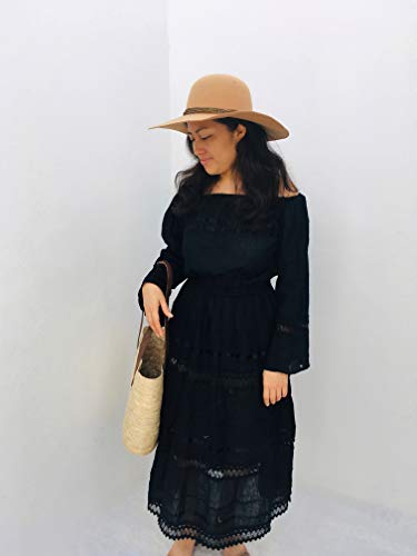 Campesino black dress with slevees for adult universal size woman