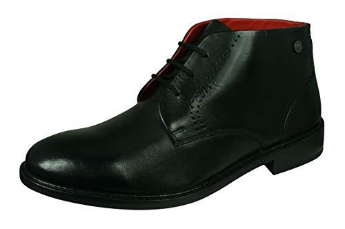 Base London Phoenix Herren Leder Chelsea Boots Stiefel-Black-41