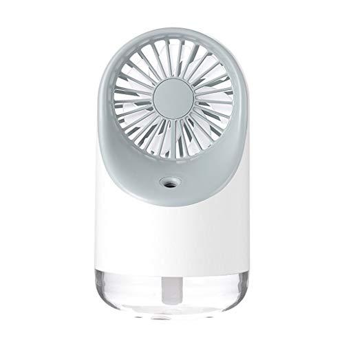 Samoii Multifunction 3 in 1 Humidifier Night Light Cooling Fan Upgrade Mini USB Desktop Fan Best Creative Gift for Home Bedside Office Desk Car