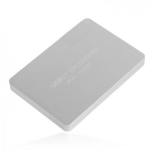 JSER USB-C USB 3.1 Typ C auf Dual 50 mm MSATA PCI-E SSD Gehäuse mit Raid Raid0 Raid1 oder PM JSER