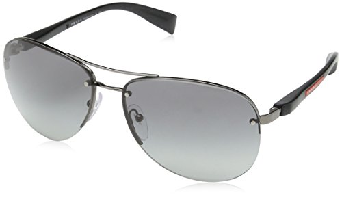 Prada Sport PS56MS 5AV3M1 Gunmetal PS56MS Pilot Sunglasses Lens Category 2 Size,62mm