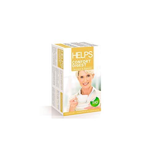 HELPS INFUSIONES - Infusion Digestiva Ecologica Con Manzanilla, Anis Y Melisa. Helps Confor Digest. Caja De 20 Bolsitas.