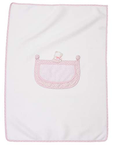 Filet - Copertina in Morbido Pile   Coperta per Bambini Neonati   60 x 80 cm - Rosa