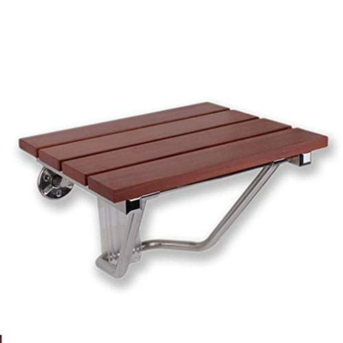 Household Necessities/badkamer, inklapbare douchekruk, badkuip, kruk, van massief hout, coating, stoel, badkamer, veiligheidsstoel, klapkruk 38CM*33CM*29CM Bruin