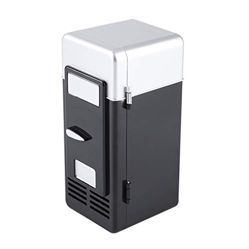 Sutinna Mini réfrigérateur Portable, Mini réfrigérateur USB Boissons Canettes de Boissons Réfrigérateur et Chauffage pour Garder Les Boissons Froides au Frais et Les Boissons Chaudes au Chaud(Noir)