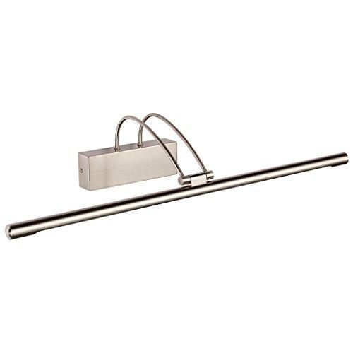 NYDZDM Lámpara del Espejo del Maquillaje del Faro del aparador Llevado, ferretería de electrochapado + acrílico, níquel de la Arena (Color : White Light, Size : 45CM/9W)