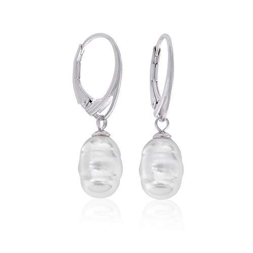 Pendientes Majorica Lyra16468.01.2.000.010.1 plata y perla
