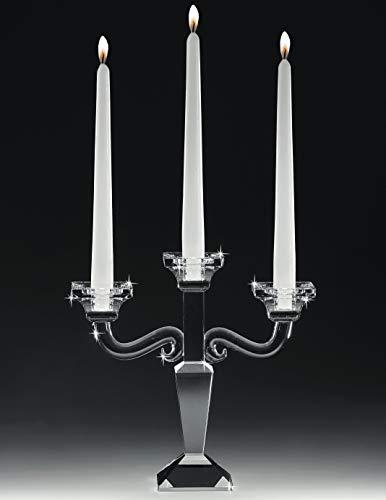 MAZZOLA LUCE Candelabro da tavola 3 Bracci in Vetro Cristallo Trasparente Elegante Raffinato Alta qualità portacandele Classico Contemporaneo