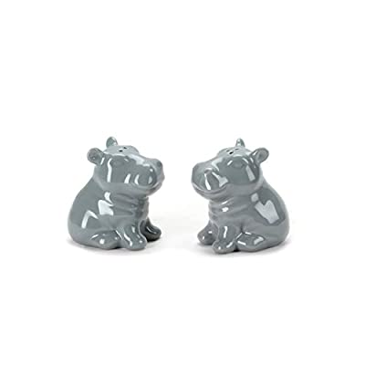 Omniware Hippo Salt and Pepper Shakers-Grey from Omniware