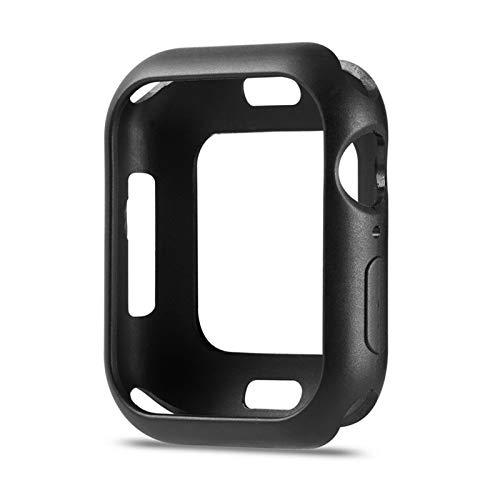 LRJBFC Funda Flexible de TPU Soft para Apple Watch Series 6 / SE / 5/4 Thin Anti-Scratch Cubierta Parachoques de la luz para iWatch 40mm 44mm (Color : Black, Dial Diameter : 40mm)